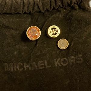 Michael Kors Brass Crystal Stud Earring
